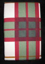 STANDARD - GT - Red, Green & Cream Plaid TWO FLANNEL PILLOWCASES