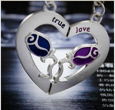 lovers keychain gifts couple key ring circles flowers roses & heart true love