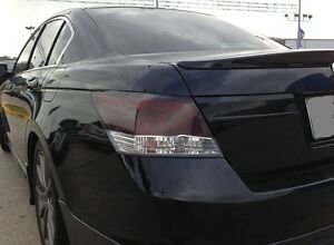 PRECUT SMOKE TINT OVERLAYS w/REVERSE CUTOUT FOR 08-12 ACCORD SEDAN TAILLIGHT