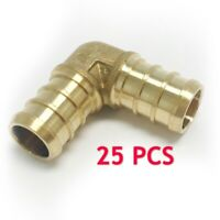 "25 PIECES 1/2"" PEX ELBOW - CERTIFIED BRASS CRIMP FITTINGS (LEAD-FREE)"