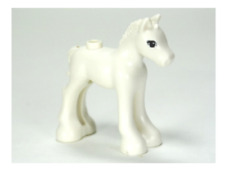 Lego White Horse 41003 Foal with Black & Reddish Brown Eyes Friends Minifigure