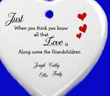 personalised Gifts for her her mum daughter Grandchildren Grandson Granddaughter