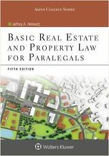 Basic Real Estate and Property Law for Paralegals: By Helewitz, Jeffrey A.