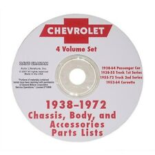 1938-1972 Chassis, Body, and Accessories Part Lists CD