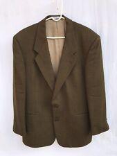 Yves Saint Laurent Mens Jacket Size 42R 100% Wool Houndstooth Blazer Sport Coat