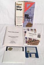 "EXPERT OFFICE DESIGN Vintage DOS Design Software 3.5"" & 5.25"" Disk Boxed Box CIB"