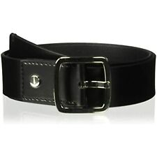 MSRP $42 Calvin Klein Women's 42mm Flat Strap with Logo Plate Black Size Medium
