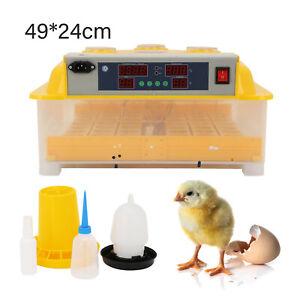 Vollautomatische Brutmaschine 48 Eier Brutapparat Flächenbrüter Inkubator Brüter