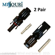 2 pair MC4 connectors  for solar panels photovoltaic pv solar energy alternative