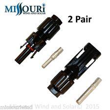 2 pair MC4 connectors  for solar panels photovoltaic pv solar energy alternative