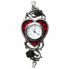 Fine English Pewter Wristwatch - Boxed Alchemy Gothic Bed Of Blood Roses