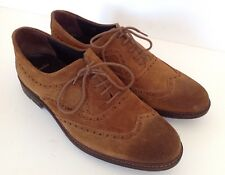 Clarks Mens Tan Leather Suede Brogues Lace Up Shoe, Size Uk 10 EU 44.5, NEW