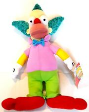 """The Simpsons Krusty the Clown Toy Factory Stuffed Plush Doll 16"""" 2016"""