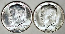 1964 P&D 50C Kennedy Half Dollars UNC Free shipping