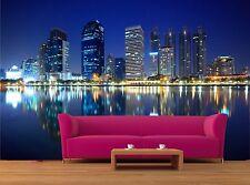 Panorama of Bangkok city at nigh 3D Mural Photo Wallpaper Decor Large Paper Wall