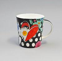 9952303 Porzellan Tee-Tasse Untertasse Dekor Blüten pink Jameson/&Tailor 18x7cm