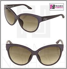 CHRISTIAN DIOR PANAME Cat Eye Matte Brown Oversized Optyl Sunglasses