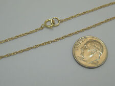 """Solid 14K Yellow Gold 7.25"""" Delicate 1mm Rope Chain Bracelet Made In Usa"""