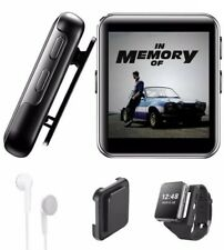16GB Clip MP3 Player with Bluetooth, Sports Watch MP3 Player with Touch Screen,