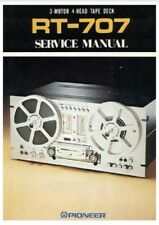 PIONEER RT-707 SERVICE MANUAL + OPERATING + SCHEMATICS + CAPACITOR PARTS LIST