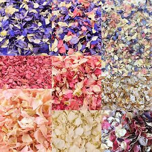 Premium Dried Petal Wedding Confetti Delphinium Petals Natural Biodegradable Eco