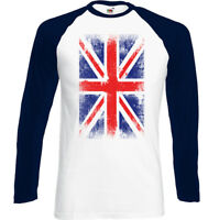 Distressed Union Jack Mens Flag T-Shirt Britain UK Football Rugby England Wales