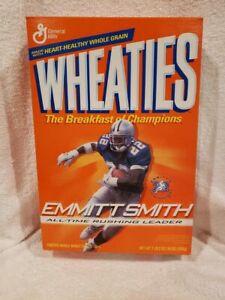 VINTAGE 1995 Emmitt Smith All-Time Rush Ldr 18 Oz. Wheaties Box, Dallas Cowboys!