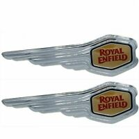 2x Fuel Tank Logo Decal Badge Emblem Monogram for Fit for Royal Enfield Petrol