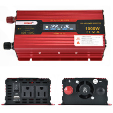1000W Portable Car Lcd Power Inverter Dc 12V to Ac 110V 12V Inverters Us Socket