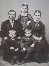 Antique Cabinet Photo-Family-Lady,Man,Beard,Boys,Girl,Fashion-Little Falls,NY