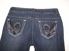 Jane Doe Jeans Designer Denim Stretch Junior Womens Misses Size 1 Taper Leg