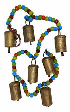 """SALE"" Chime/Hanging 7 Cow Bells w Coloured Beads, Positive Energy & Prosperity"