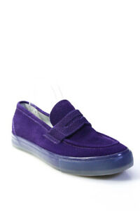 Supra Mens Rone Thirty Six Hand Sewn Python Embossed Suede Shoes Purple Size 11