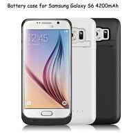 Für Samsung Galaxy S6/S6 edge 4200mAh Batterie Akku Cover Case Hülle Power Bank