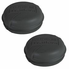 2 x Grey Plastic Hub Cap Grease Dust Bearing Cap 76mm For Ifor Williams Traile