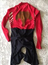 VGC Vintage Descente Cycling Rubberized Aero Skinsuit with Leather Chamois