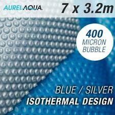 NEW Solar Swimming Pool Cover 7 x 3.2 Blue/Silver Outdoor 400 Bubble Blanket