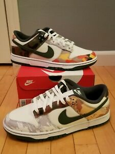 Nike Dunk Low SE - SAIL MULTI-CAMO - DH0957-100 - Men's Size 10.5 - IN HAND