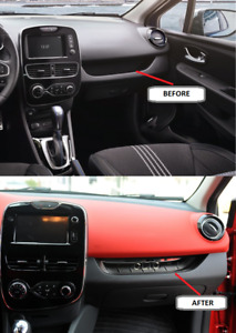 2013up Renault Clio IV Grand Tourer Chrome Dashboard Trim 1Pc Stainless Steel