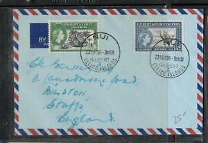 GILBERT & ELLIS ISLANDS (P3005B) 1985 QEII 1/2D+ 2 1/2d AM NUI TO ENGLAND