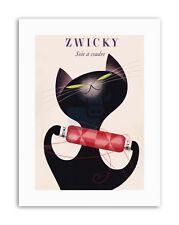 AD ZWICKY COTTON SWITZERLAND BLACK CAT REEL THREAD Picture Canvas art Prints