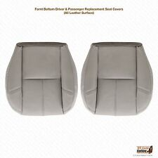 2007 2008 Chevy Tahoe-Suburban DRIVER-PASSENGER Bottom Leather Seat Cover Gray