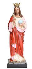 Statua Cristo RE Christ King Statue Fiberglass Glasseyes Occhi Cristallo cm 160