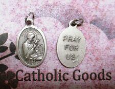 Saint St. Aloysius - Pray for Us - Ox Silver Tone Italian 1 inch Medal