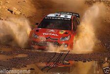 """Pilote de rallye Sébastien LOEB WRC Hand Signed Photo Autograph 12x8"""" AC"""