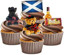 Scottish Tartan Mix Cake Toppers Wafer Card Popular Birthday Decorations Whisky