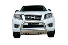 "Bullbar Nudge Bar S/S 304 3"" Grille Skid Guard for Nissan Navara NP300 15-19 D23"