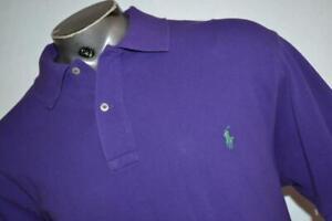 26026-a Mens Polo Ralph Lauren Golf Shirt Size XLT Tall Purple Cotton