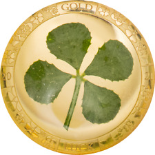 9999 Goldmünze 2021 Vierblättriges Kleeblatt 1 Dollar PALAU 2021 w/ COA & Box