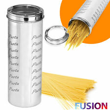 Spaghetti Storage Jar Container Tin Pasta Food Kitchen Tall Stainless Steel 2.5L